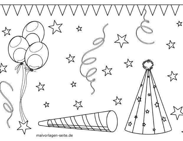 Malvorlage Geburtstag Dekoration