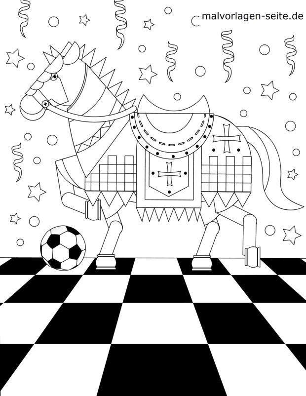 Värityskuva Chess-kappale Springer