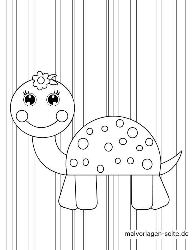 Malvorlage für kleine Kinder - Schildkröte