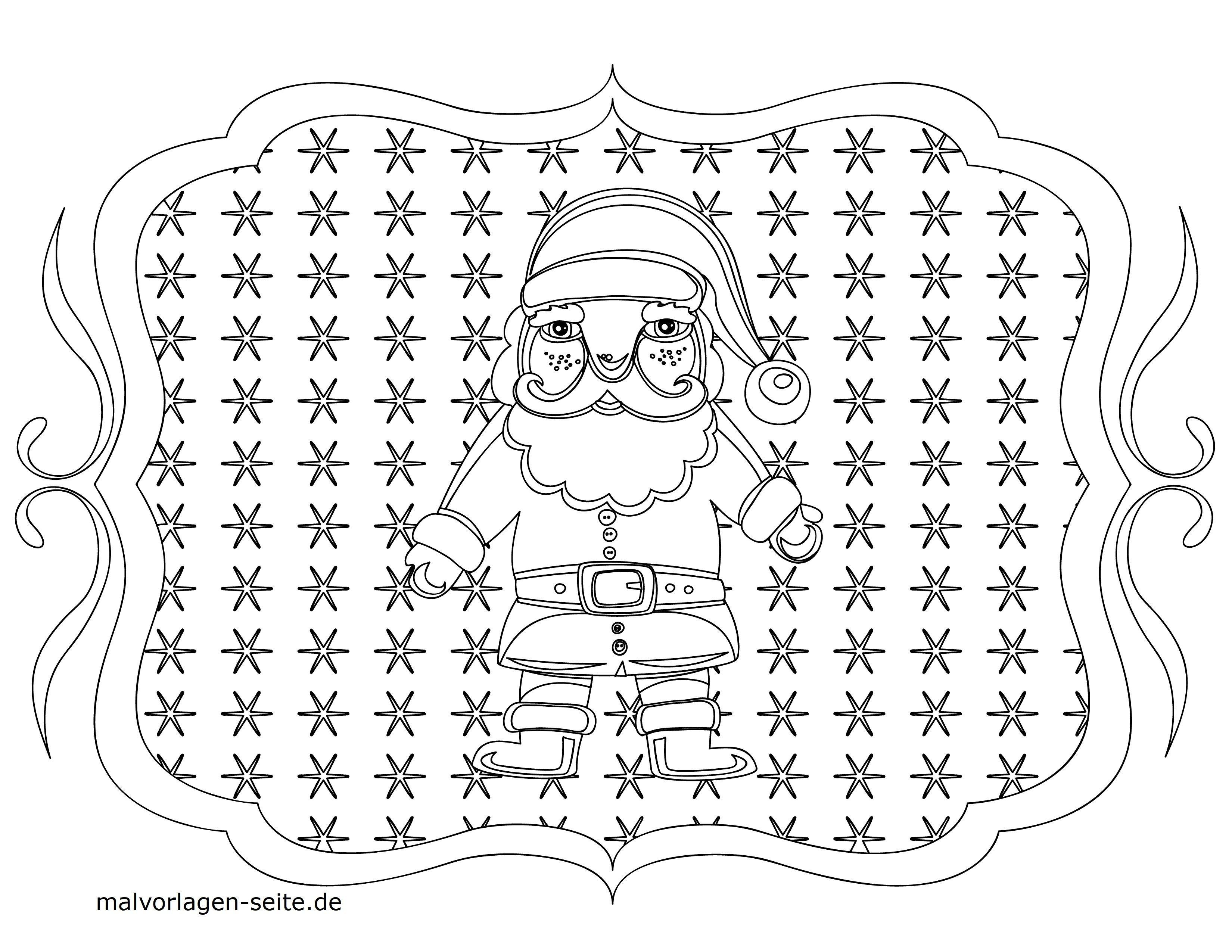 malvorlage weihnachten  weihnachtsmann  kostenlose