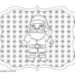 Coloring page Christmas - Santa Claus