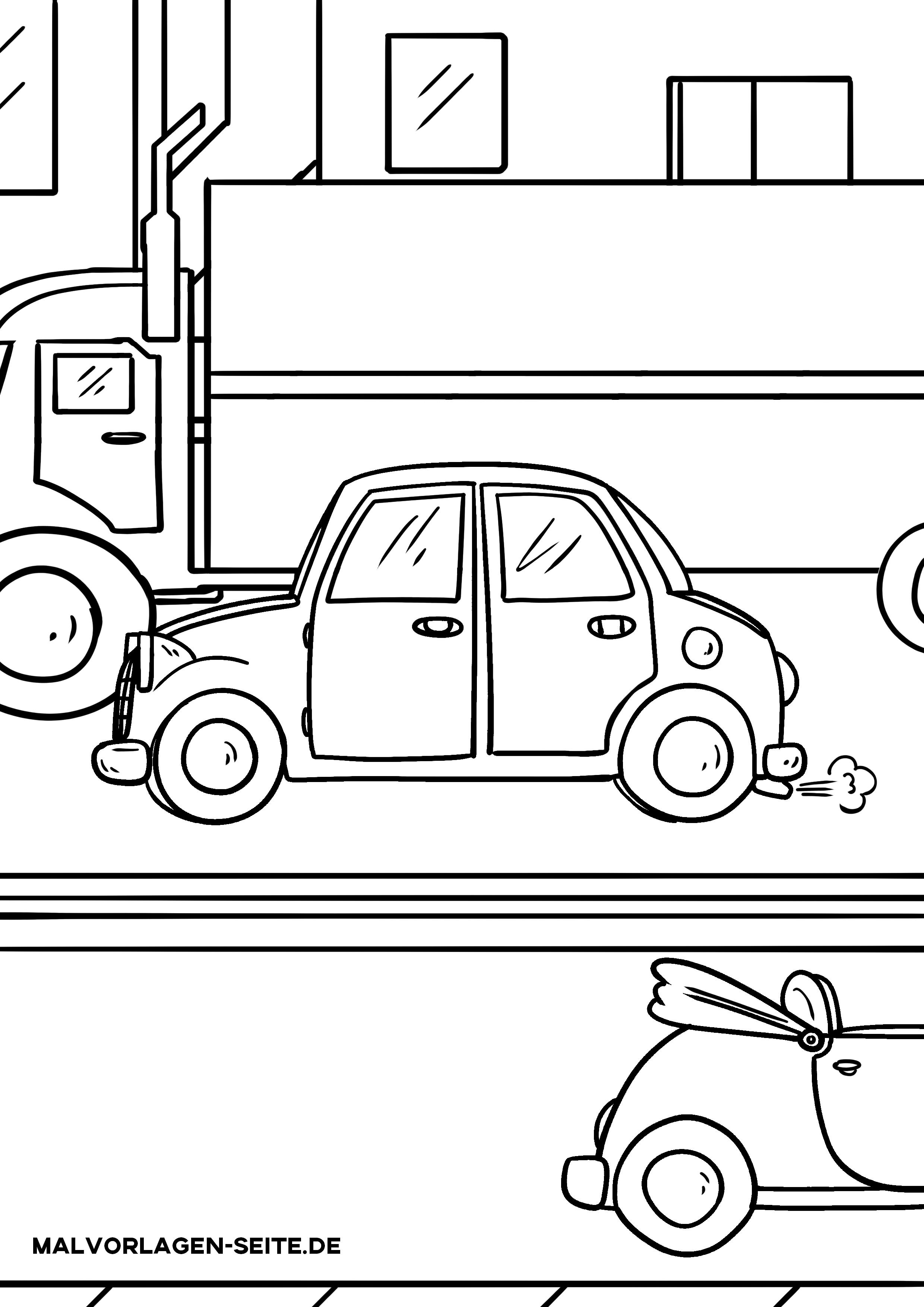 Malvorlage Auto