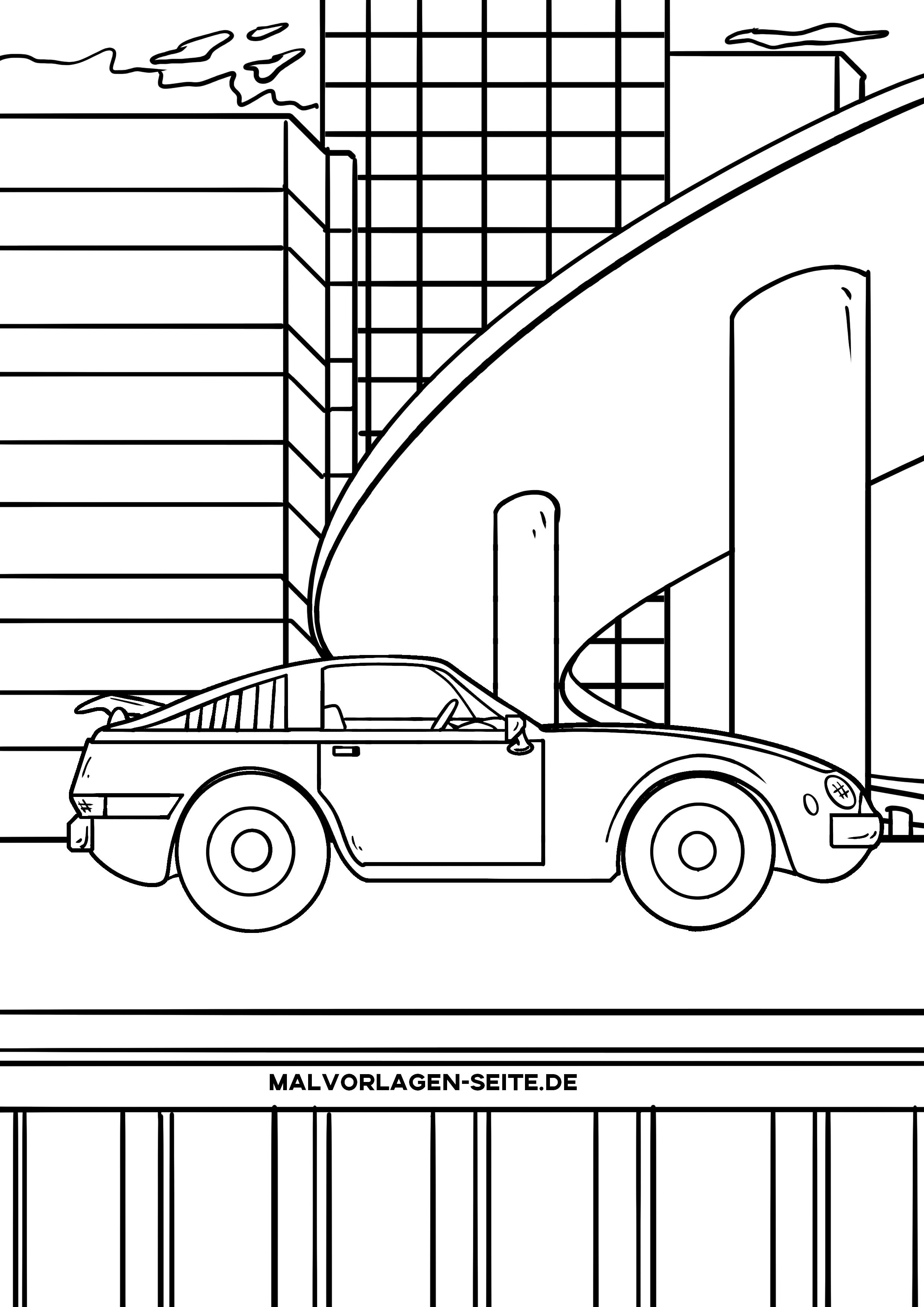 malvorlage auto sportwagen  ausmalbilder kostenlos