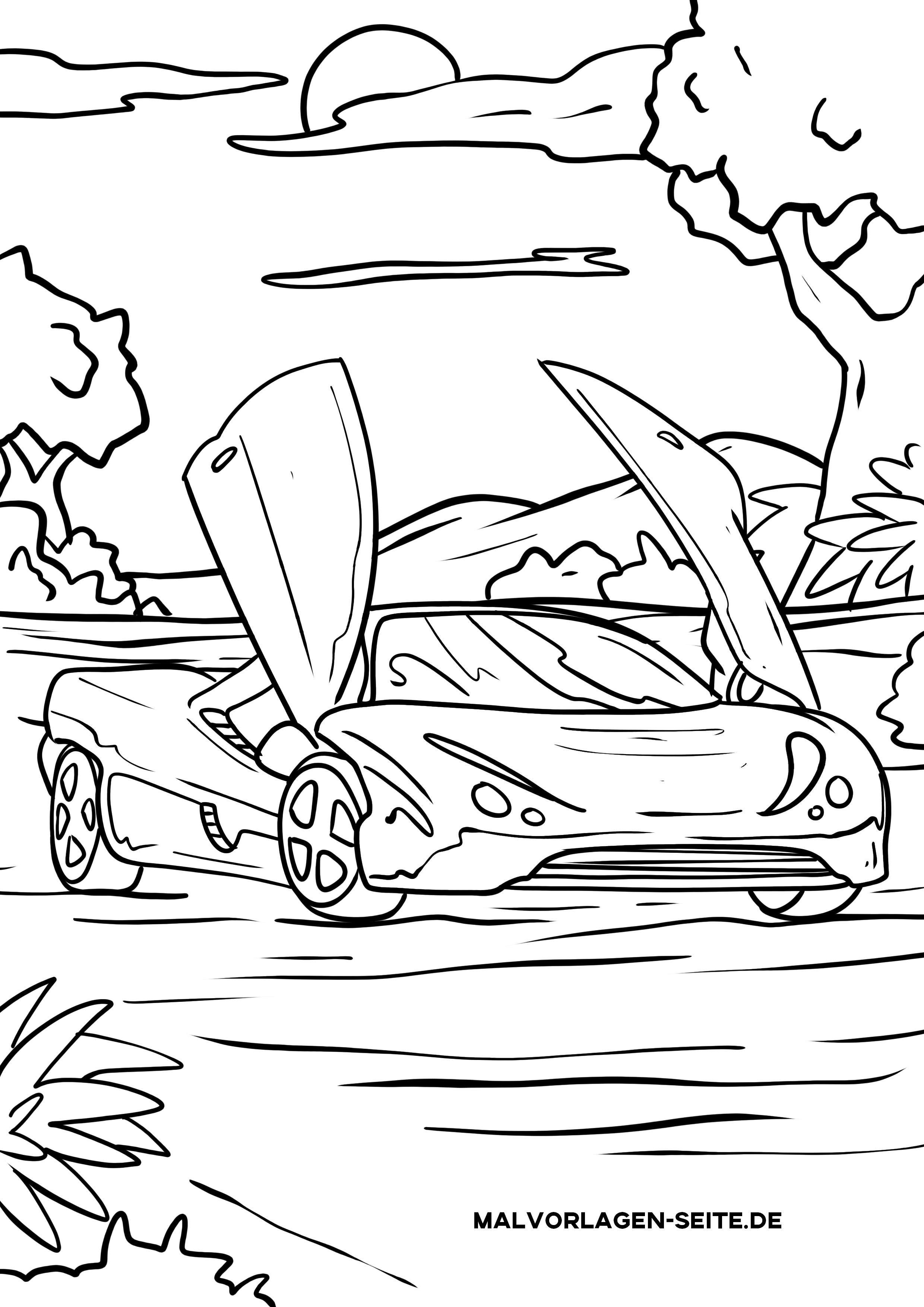 Malvorlage Auto Mit Flügeltüren