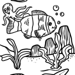Coloring page clownfish | fish