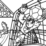 Coloring page soccer goalkeeper - sport