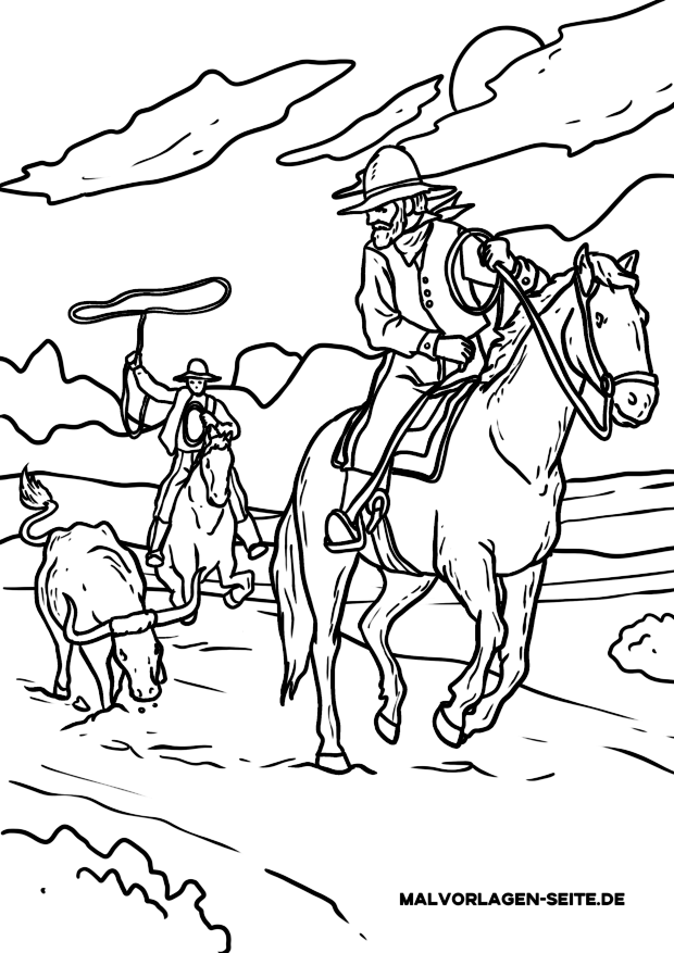 Coloring page Cowboys