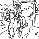Coloring page cowboy