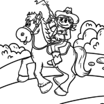 Coloring page cowboy boy for coloring