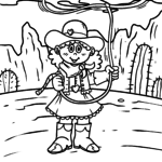 Coloring page Cowboy / Cowgirl