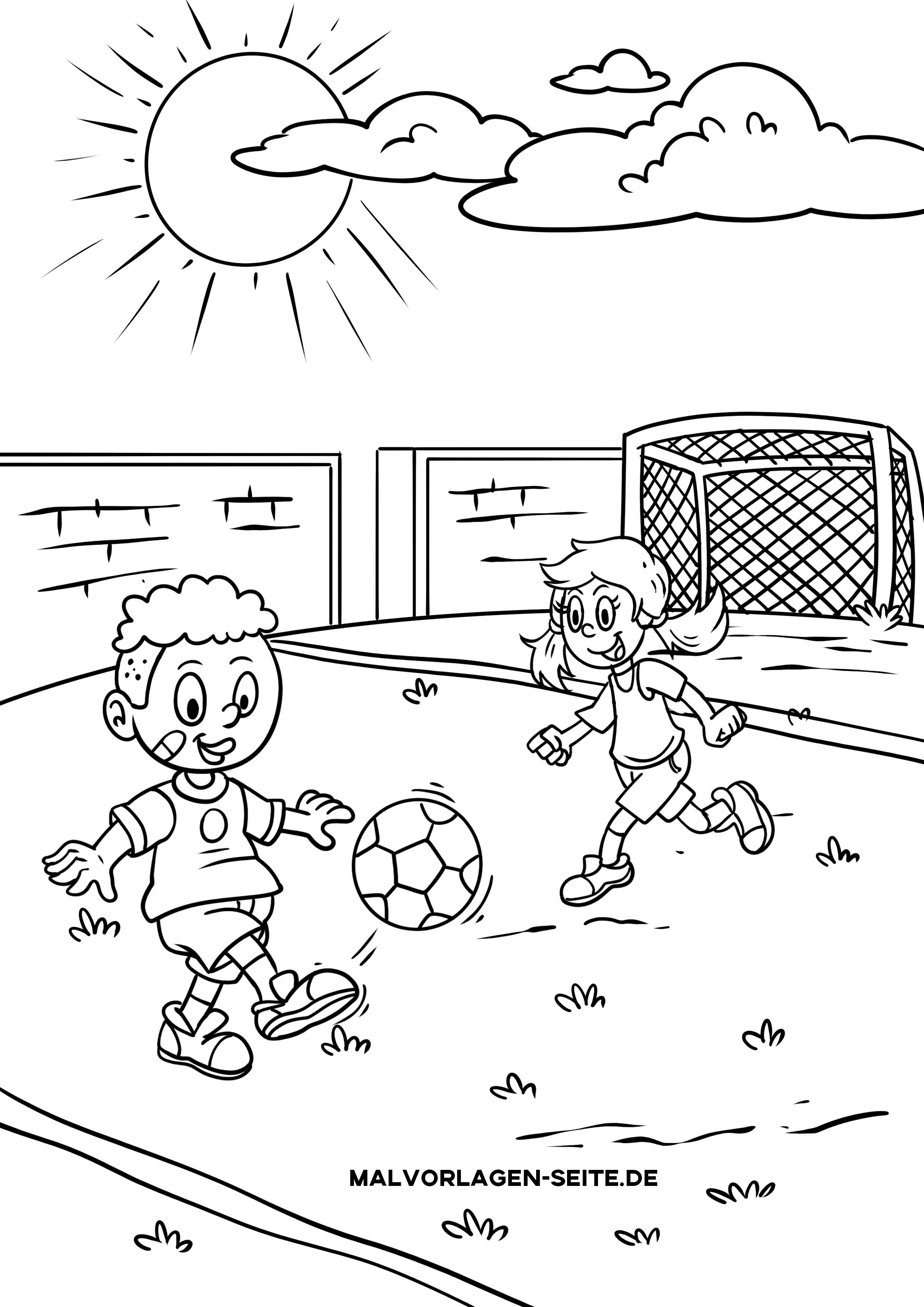 Malvorlage Fußball Sport
