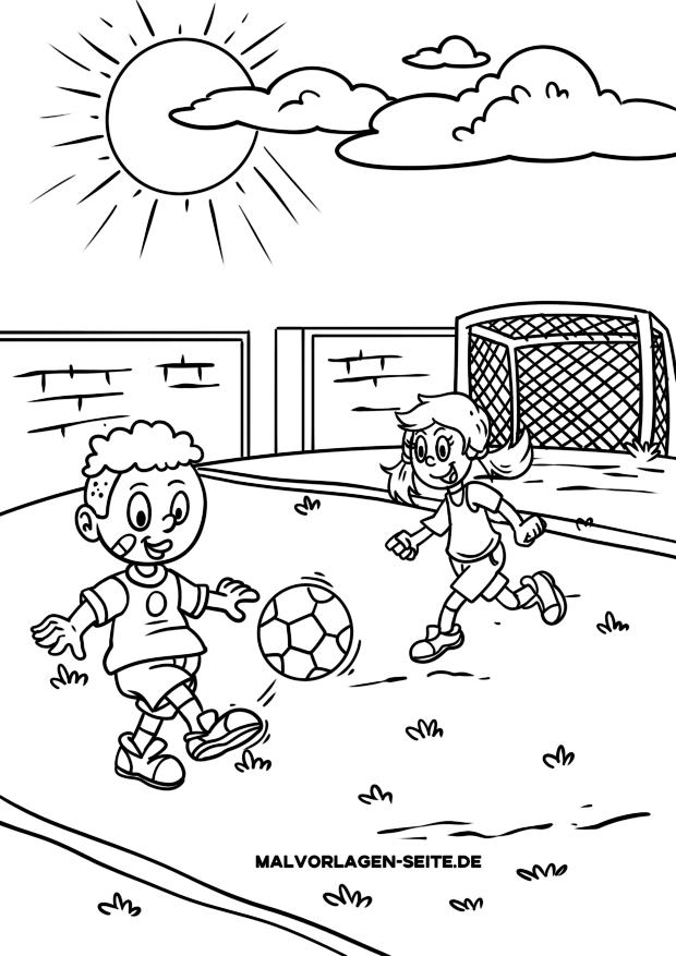 Malvorlage Fussball Sport Ausmalbilder Kostenlos