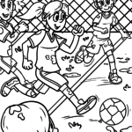 Coloriage football - sport