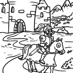 Coloring page Knight