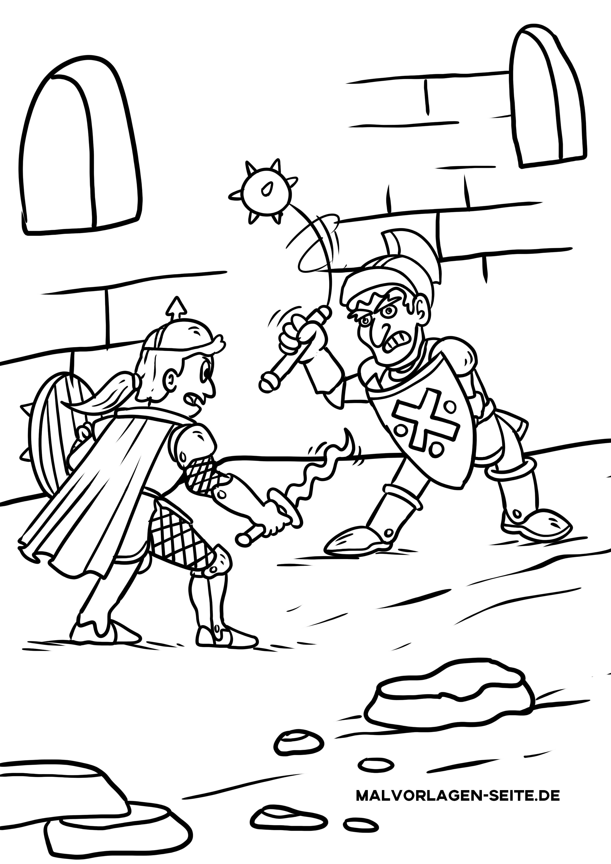 Kostenlose Malvorlagen Ritter Zum Ausmalen Für Kinder