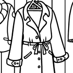 Coloring page clothes - coat