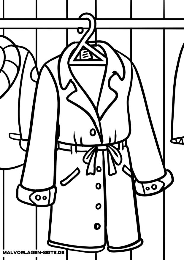 Malvorlage Kleidung - Mantel
