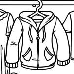 Coloring page clothes - jacket