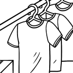 Coloring page clothes - T-shirts