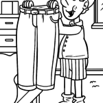 Coloring page clothes - pants