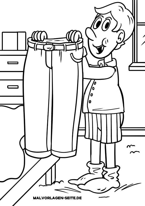 Malvorlage Kleidung - Hose