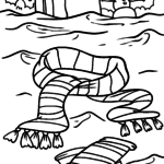 Coloring page clothes - scarf