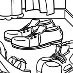 Malvorlage Kleidung - Schuhe