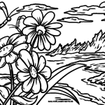 Coloriage paysage