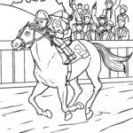 Malvorlage Pferderennen Pferde Sport