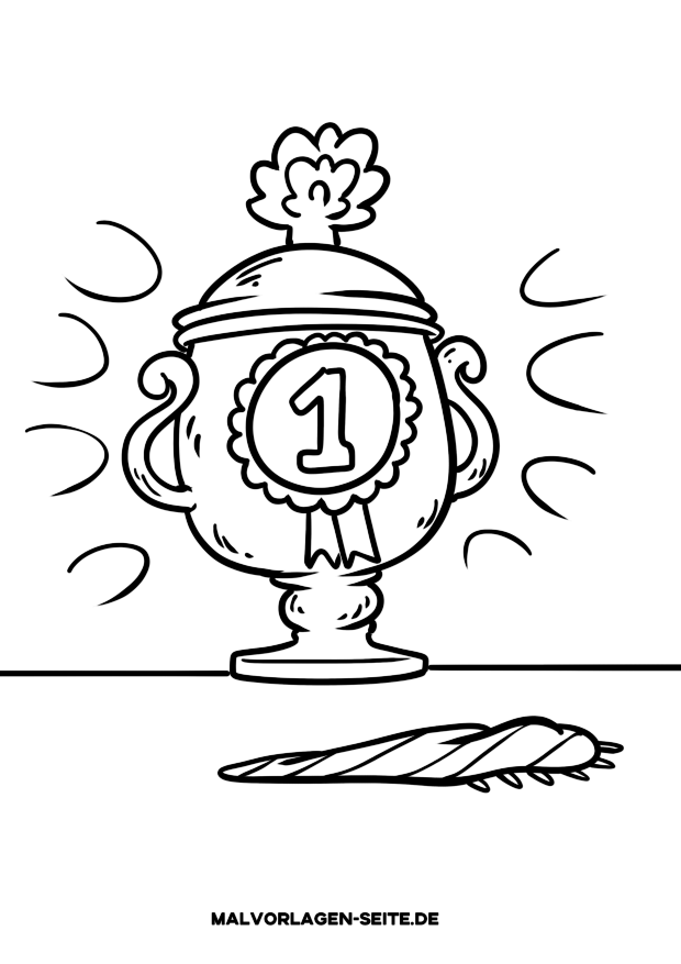 Coloring sheet winner's cup