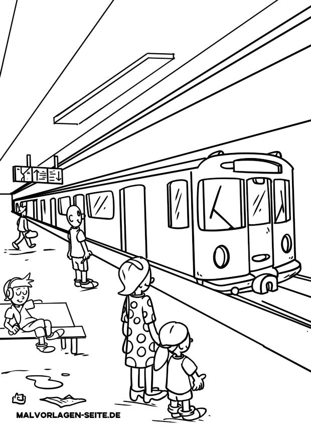 Coloring page subway