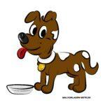 Fertig augemalter Hund