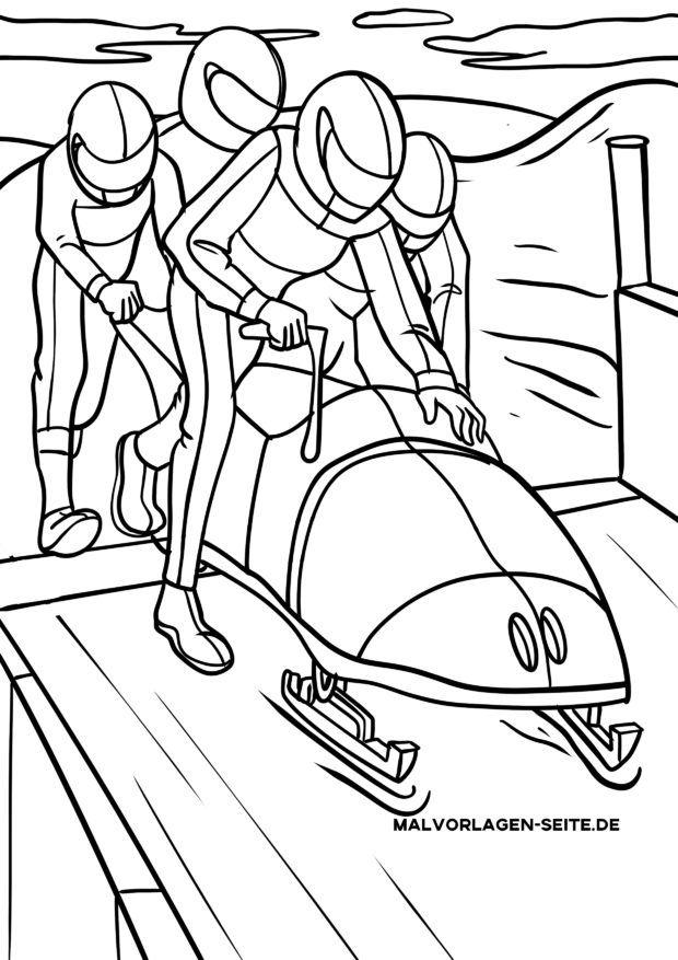 Χρωματική σελίδα bobsleighing - Bobsport
