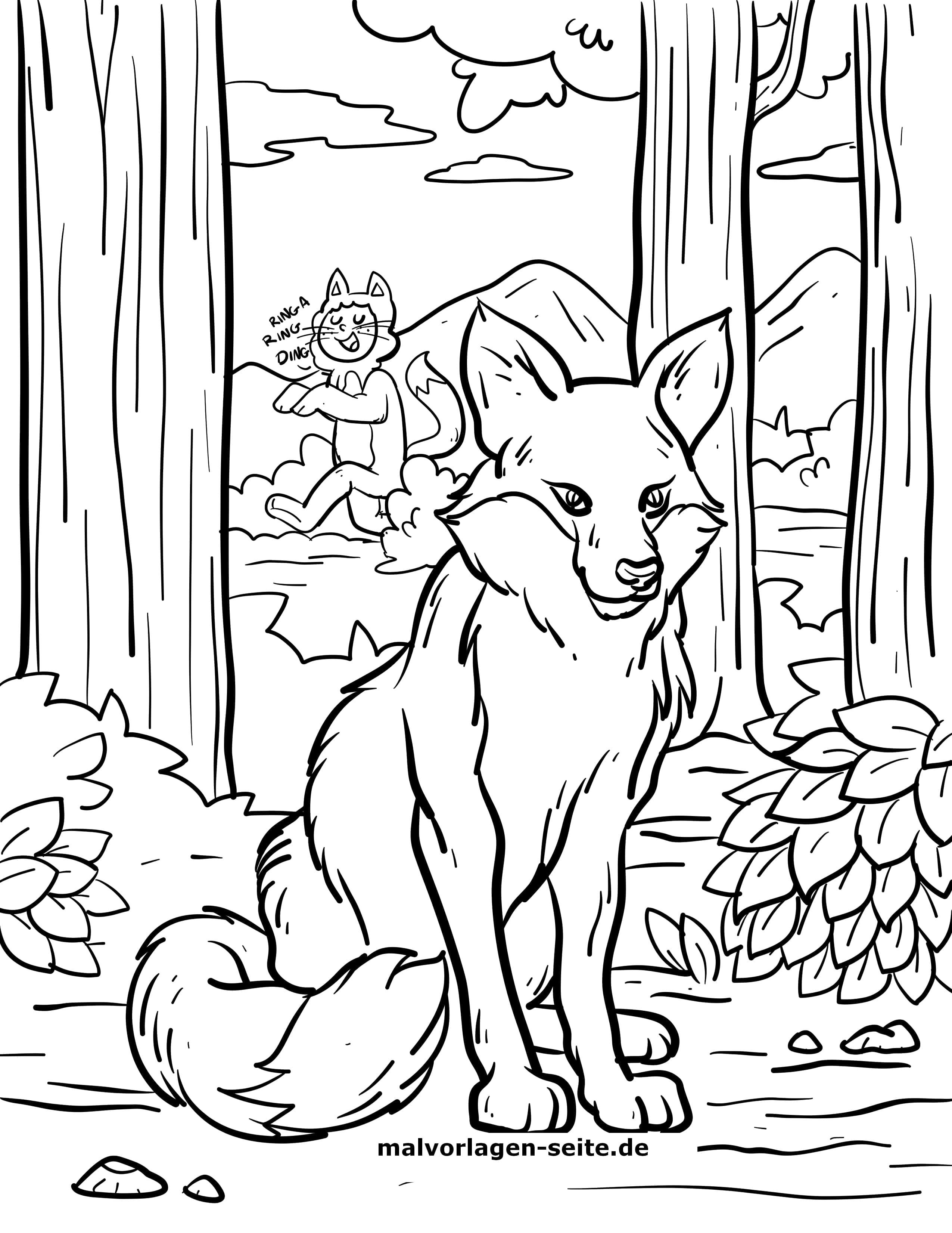 Malvorlage Fuchs