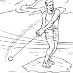 Coloring page hammer throw | Athletics Sports