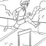 Coloring page Hurdles Athletics for coloring