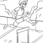 Coloring page hurdles | Athletics Sports