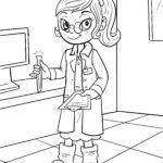 Väritys sivu lääkärin avustaja | Ammatit