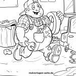 Coloring page car mechanic for coloring