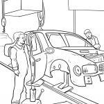 Coloring page worker car maker for coloring