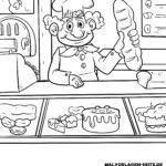 Malvorlage Bäcker | Berufe