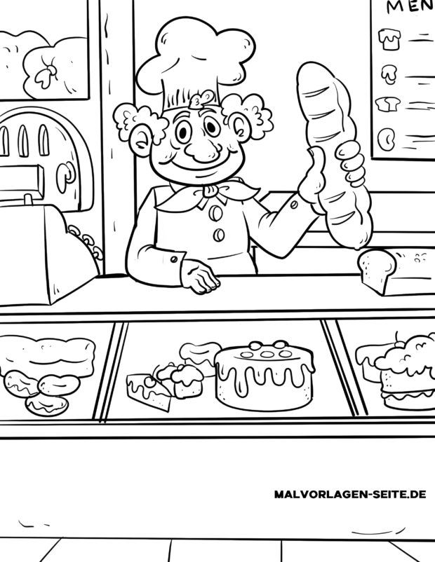 Coloriage boulanger