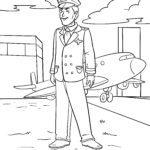 Malvorlage Pilot | Berufe