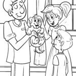 Coloring page veterinarian | jobs