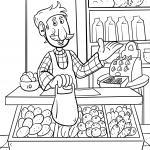 Coloring page seller food for coloring