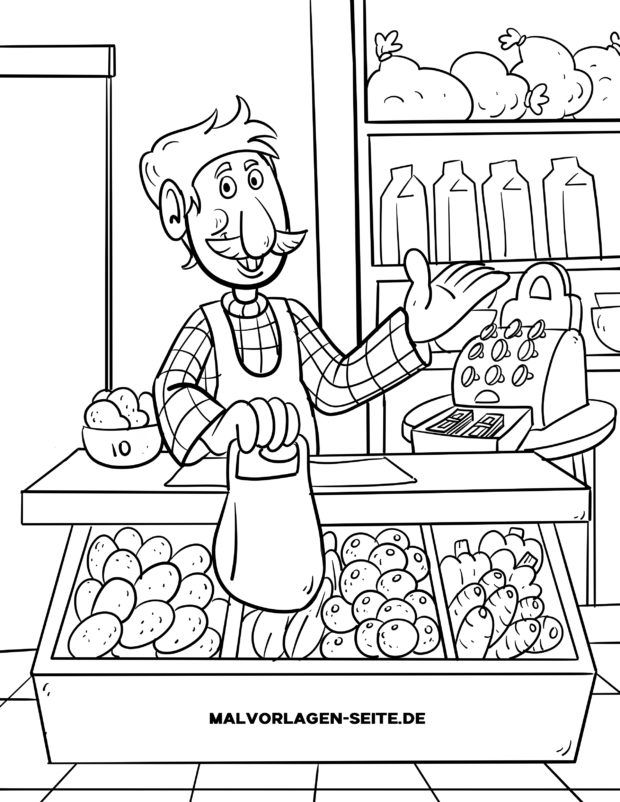 Coloring page seller