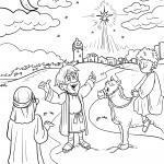 Stern über Bethlehem Geburt Christi zum Ausmalen