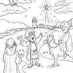 Malvorlage Weihnachtsstern Bethlehem | Weihnachten