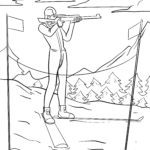 Coloring page Biathlon | Winter sports