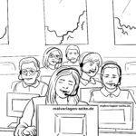Malvorlage Callcenter | Berufe